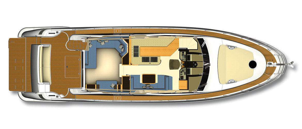 The main deck of the Azimut 60 Flybridge